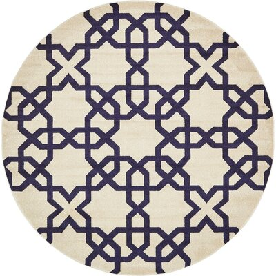 Molly Turkish Trellis Beige Area Rug Rug Size: Round 8