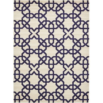 Molly Turkish Trellis Beige Area Rug Rug Size: 9 x 12