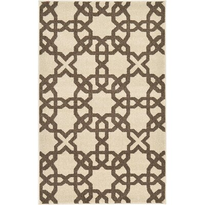 Molly Stain-Resistant Beige Area Rug Rug Size: 33 x 53