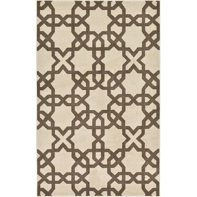 Molly Stain-Resistant Beige Area Rug Rug Size: Rectangle 5 x 8