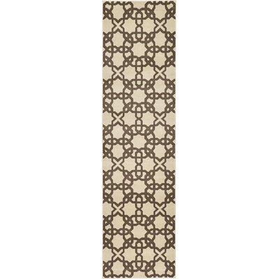 Moore Stain-Resistant Beige Area Rug Rug Size: Runner 27 x 10