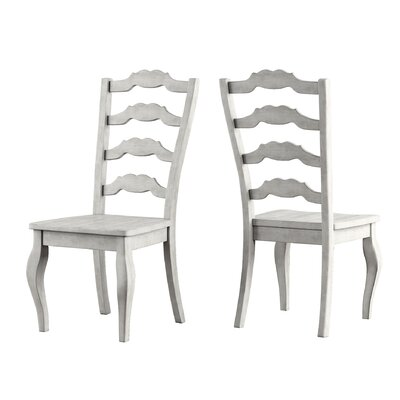Back Bay Side Chair Finish: White