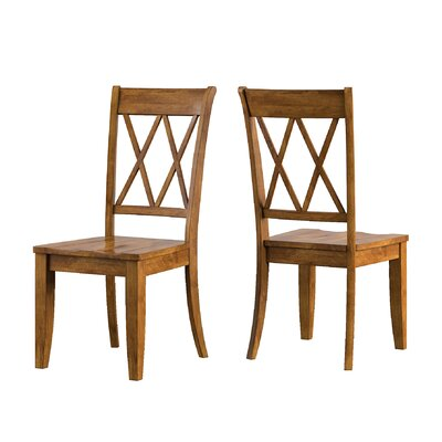 Back Bay Side Chair Finish: Oak