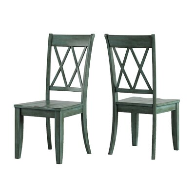 Back Bay Side Chair Finish: Dark Sea Green