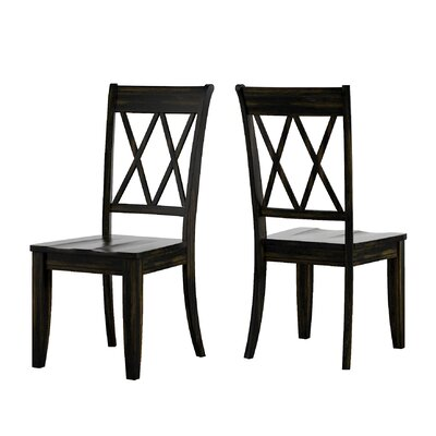 Back Bay Side Chair Finish: Black