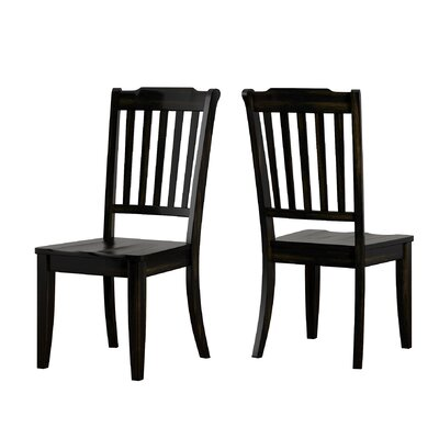 Back Bay Side Chair Finish: Black