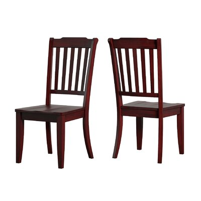 Back Bay Side Chair Finish: Berry Red