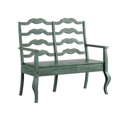 Back Bay Storage Bench Finish: Dark Sea Green
