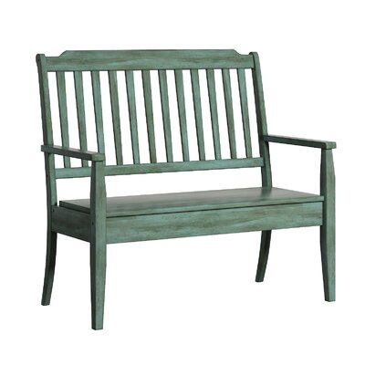 Back Bay Wood Storage Bench Finish: Dark Sea Green