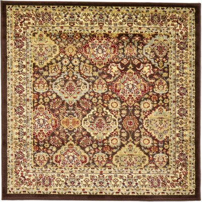 Fairmount Brown Area Rug Rug Size: Square 4