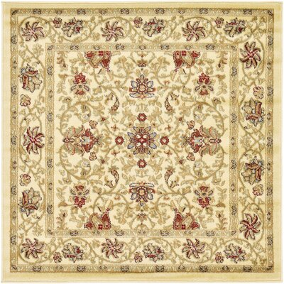 Fairmount Cream Area Rug Rug Size: Square 4'