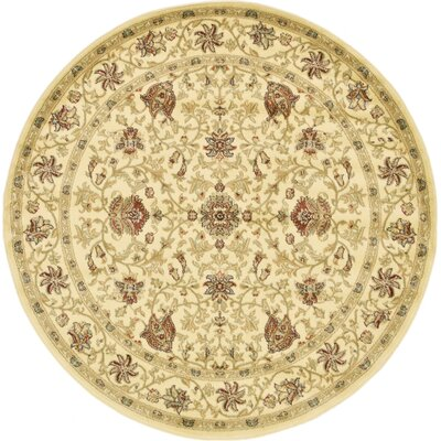 Fairmount Cream Area Rug Rug Size: Round 6'