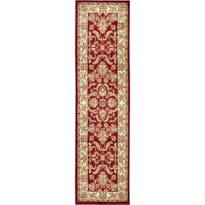 Fairmount Red Area Rug Rug Size: Runner 27 x 10