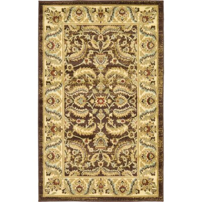 Fairmount Brown Area Rug Rug Size: 7 x 10