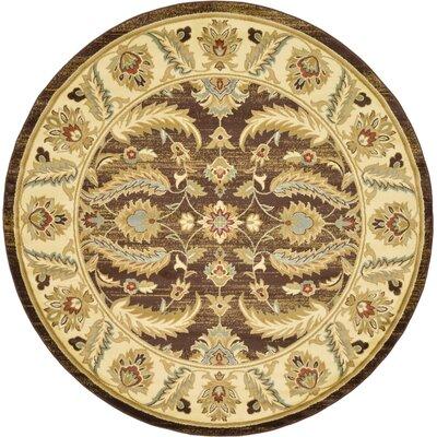Fairmount Brown Area Rug Rug Size: Round 8'