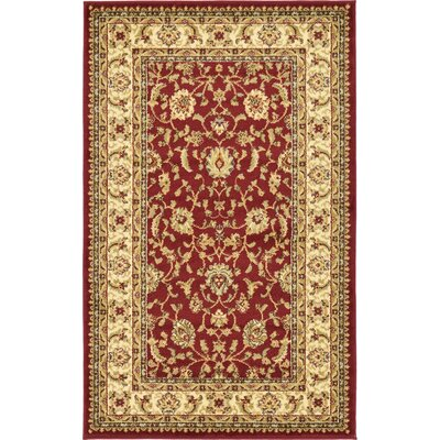 Fairmount Red/Cream Area Rug Rug Size: 4 x 6