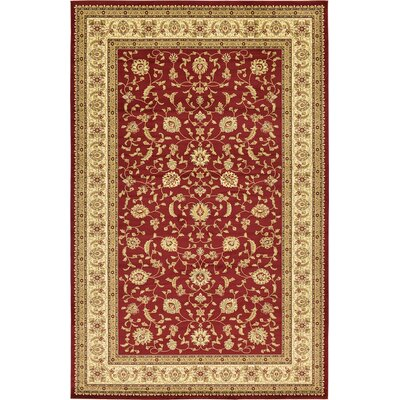 Fairmount Red/Cream Area Rug Rug Size: 106 x 165