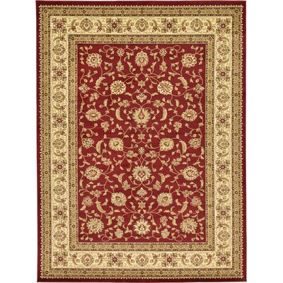 Fairmount Red/Cream Area Rug Rug Size: 9' x 12'