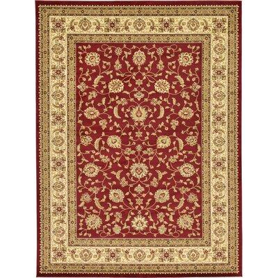 Fairmount Red/Cream Area Rug Rug Size: 9 x 12