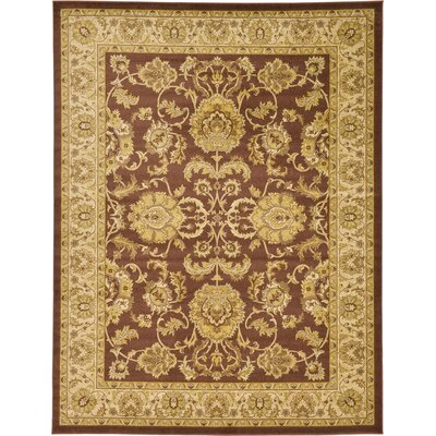 Fairmount Brown Area Rug Rug Size: 6 x 9