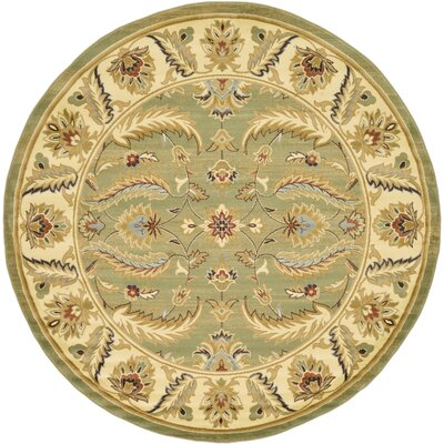 Fairmount Green Area Rug Rug Size: Round 8'