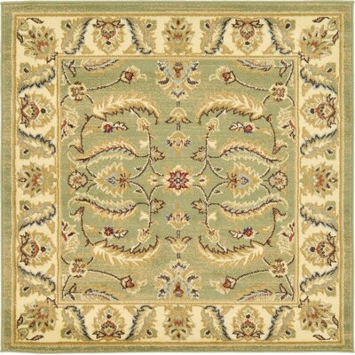 Fairmount Green Area Rug Rug Size: Square 4'