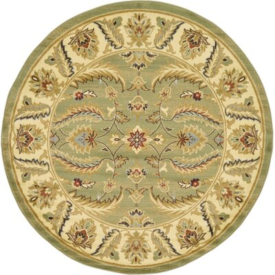 Fairmount Green Area Rug Rug Size: Round 6