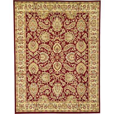 Fairmount Red Area Rug Rug Size: 7 x 10