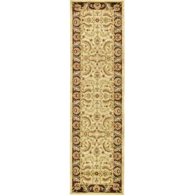 Fairmount Cream Area Rug Rug Size: Runner 2'7