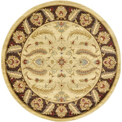 Fairmount Cream Area Rug Rug Size: Round 8'