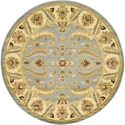 Fairmount Light Blue Area Rug Rug Size: Round 8'