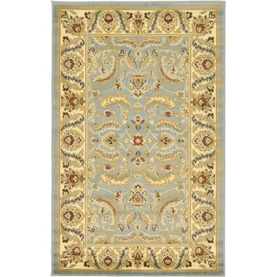 Fairmount Light Blue Area Rug Rug Size: 33 x 53