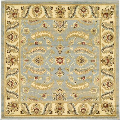Fairmount Light Blue Area Rug Rug Size: Square 4