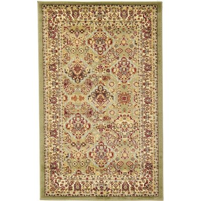 Fairmount Light Green Area Rug Rug Size: Round 8