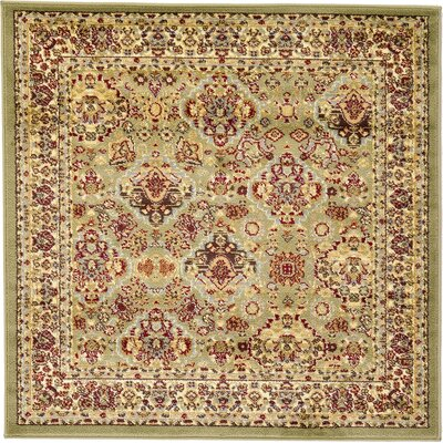 Fairmount Light Green Area Rug Rug Size: Square 4