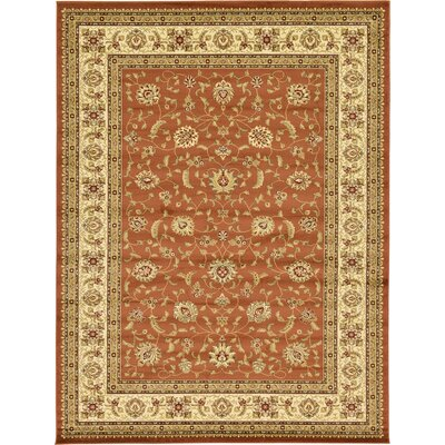 Fairmount Brick Red Area Rug Rug Size: 33 x 53