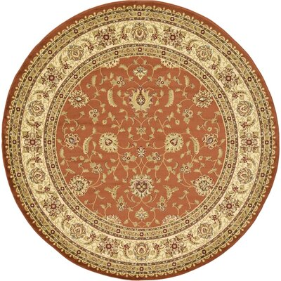 Fairmount Brick Red Area Rug Rug Size: Round 8