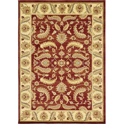 Fairmount Red Area Rug Rug Size: 8 x 10