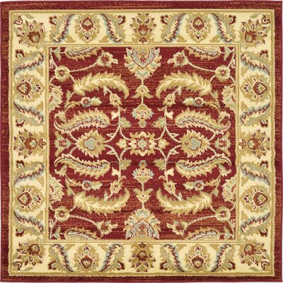 Fairmount Red Area Rug Rug Size: Square 4'