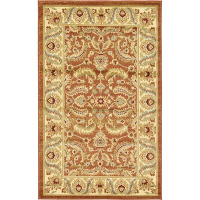Fairmount Brick Red Area Rug Rug Size: 8 x 10