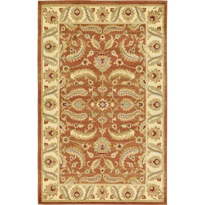 Fairmount Brick Red Area Rug Rug Size: 10'6
