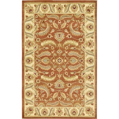 Fairmount Brick Red Area Rug Rug Size: 5' x 8'