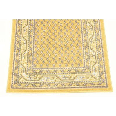 Gillam Yellow Area Rug Rug Size: Runner 2'9