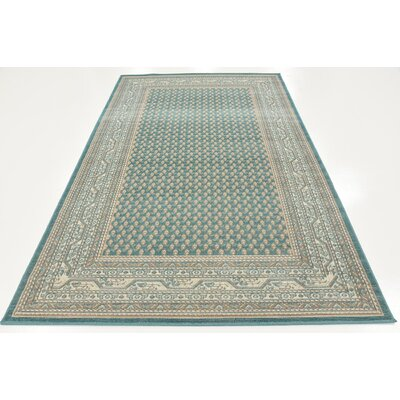 Gillam Teal Area Rug Rug Size: Rectangle 4 x 6
