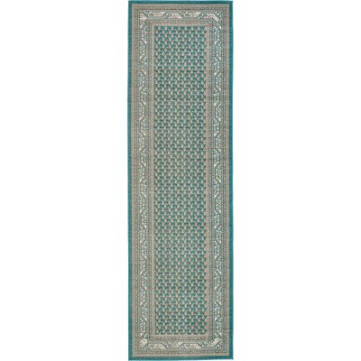 Gillam Teal Area Rug Rug Size: Runner 2'9