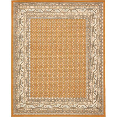Gillam Orange Area Rug Rug Size: Rectangle 8 x 10