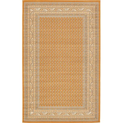 Gillam Orange Area Rug Rug Size: Rectangle 5 x 8