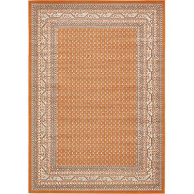 Gillam Orange Area Rug Rug Size: Rectangle 7 x 10
