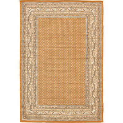 Toni Orange Area Rug Rug Size: 6 x 9