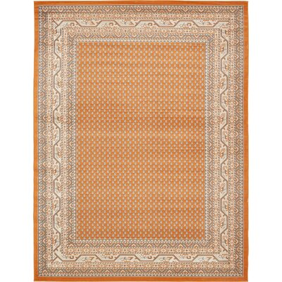 Toni Orange Area Rug Rug Size: Rectangle 9 x 12